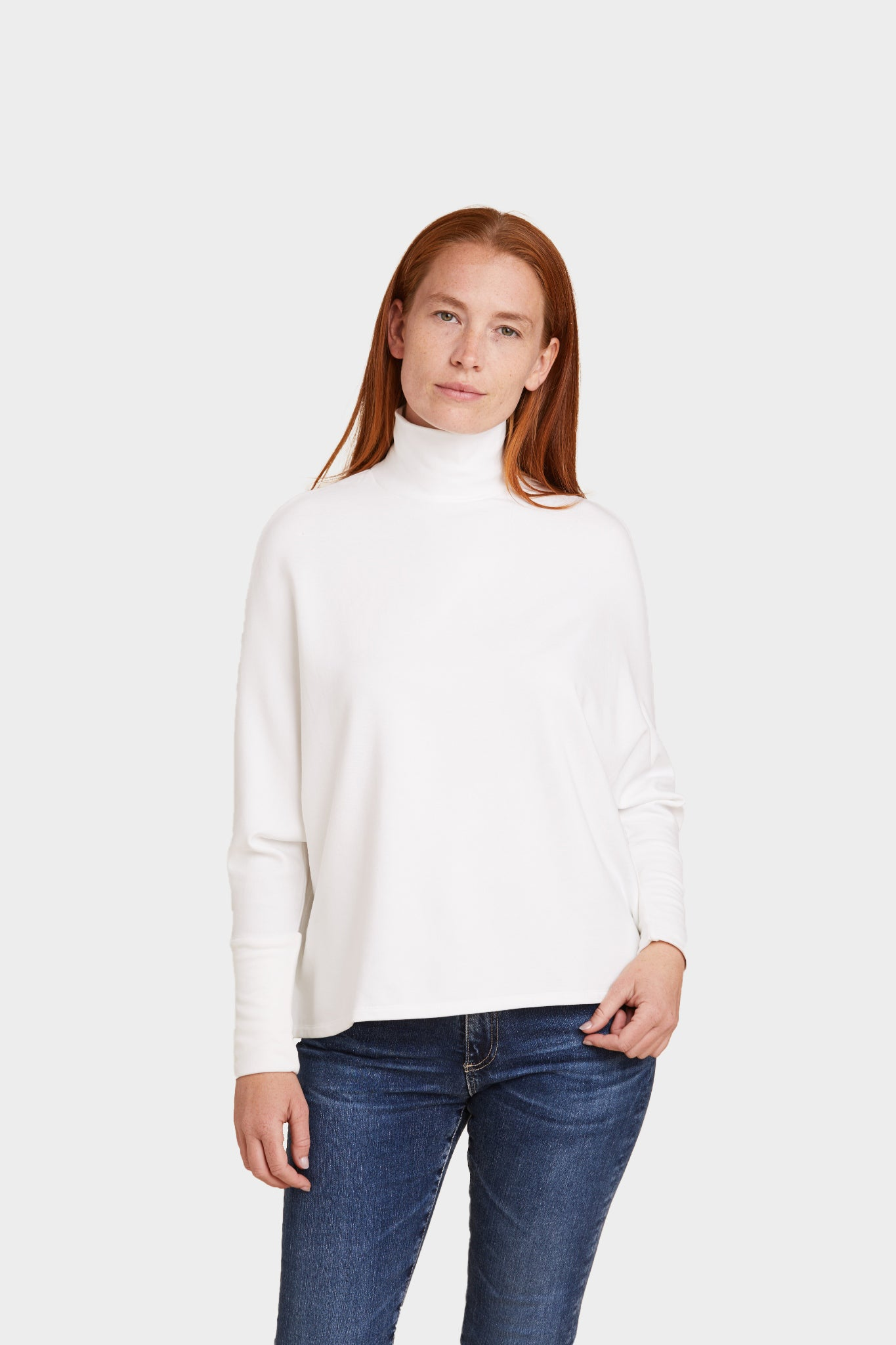 FRENCH TERRY L/S SEMI RELAXED TURTLENECK - MAJESTIC FILATURES