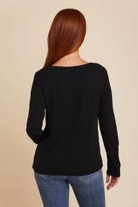 COTTON/CASHMERE SEMI RELAXED L/S BOATNECK - MAJESTIC FILATURES
