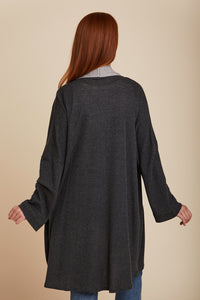 COTTON CASHMERE DOUBLE FACE SEMI RELAXED CARDIGAN - MAJESTIC FILATURES