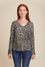 Load image into Gallery viewer, SOFT TOUCH ANIMAL PRINT L/S V-NECK - MAJESTIC FILATURES
