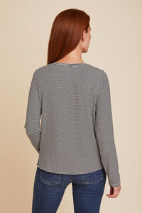 SOFT TOUCH STRIPED L/S BOATNECK - MAJESTIC FILATURES