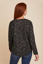 Load image into Gallery viewer, CASHMERE LEOPARD PRINT L/S V-NECK - MAJESTIC FILATURES