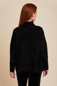 FRENCH TERRY NOVELTY SEMI RELAXED L/S TURTLENECK - MAJESTIC FILATURES