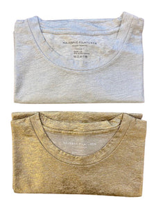 STRETCH METALLIC CREWNECK 2-PIECE GIFT PACK - MAJESTIC FILATURES