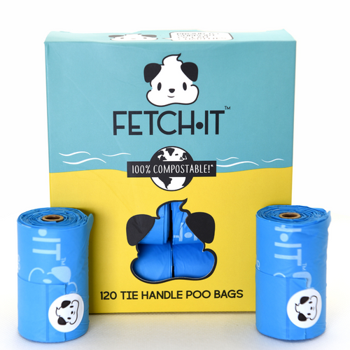 Fetch•It Compostable Poo Bags With Tie Handle x120