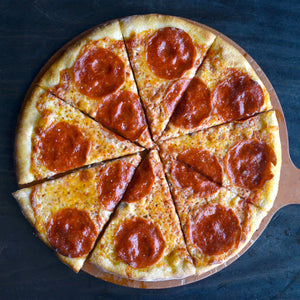The best Pepperoni pizza in Jackson Hole from Pizzeria Caldera. We Ship pizza Nationwide