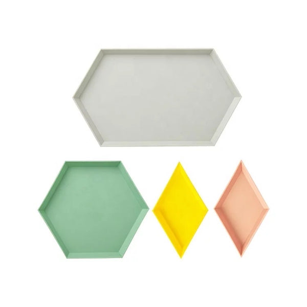 Geometric Tray Set