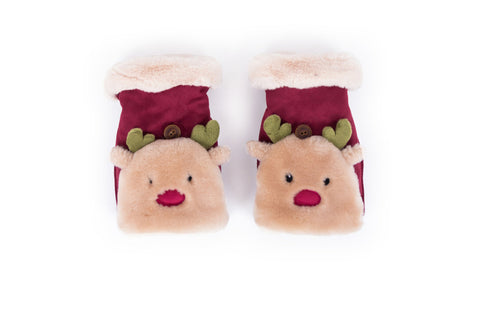 Powder - Berry Reindeer Wrist Warmers
