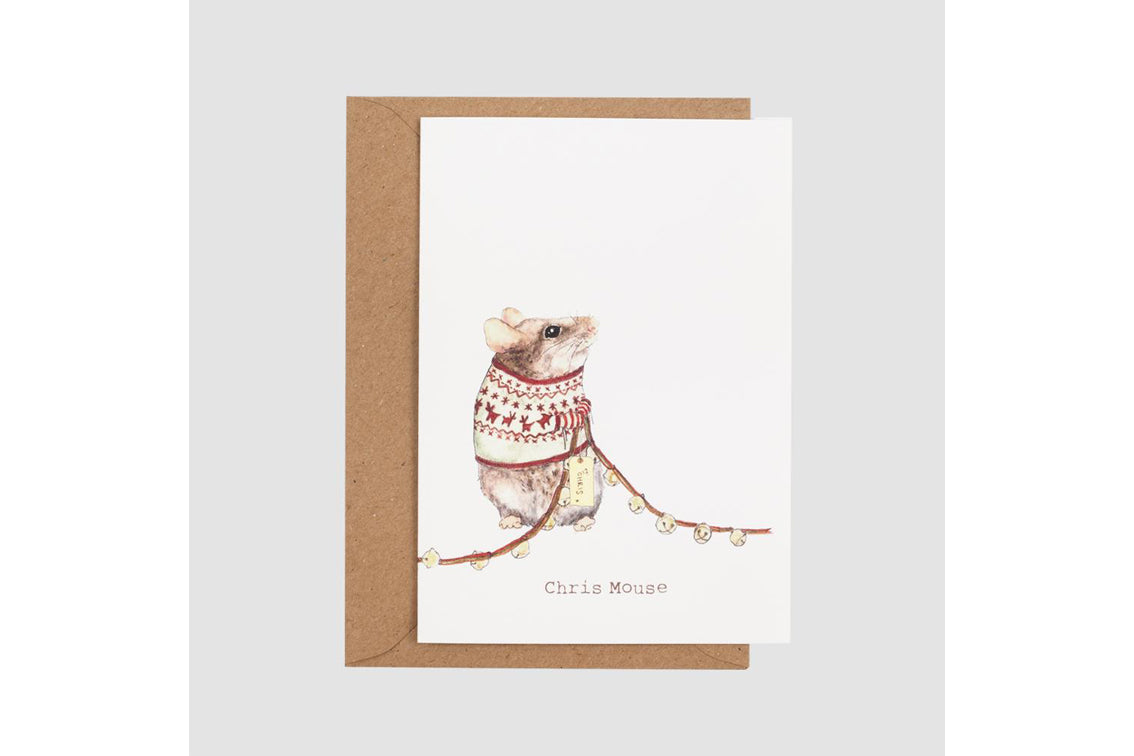 Mister Peebles - Chris Mouse Card
