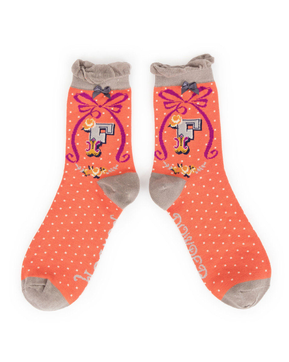 Powder - Alphabet socks F