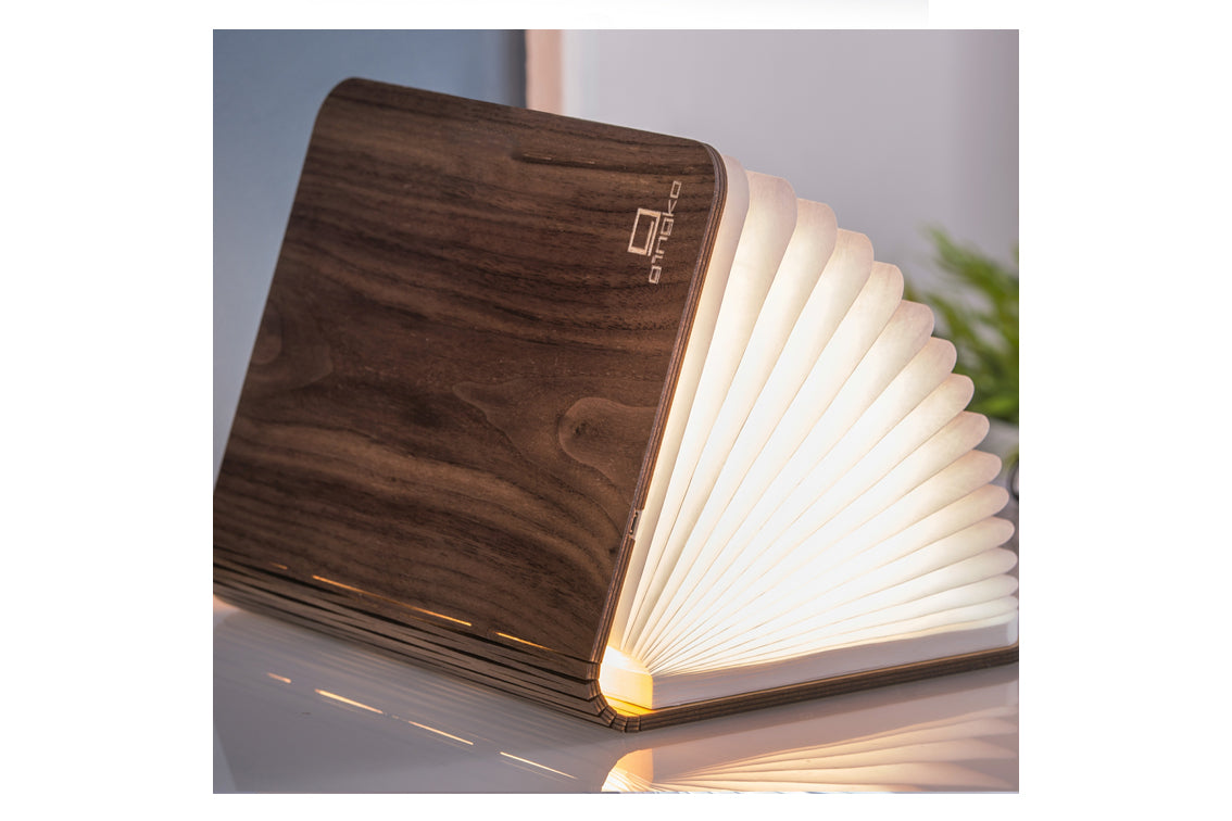 GingKo - Large Walnut Book Light