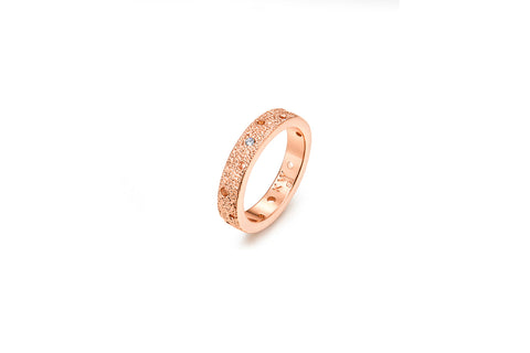 Kaytie Wu - Rose Gold Galaxy Circle Ring