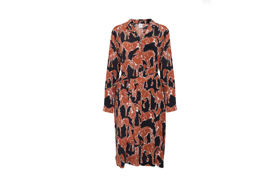 Ichi - Ihhorse Shirt Dress