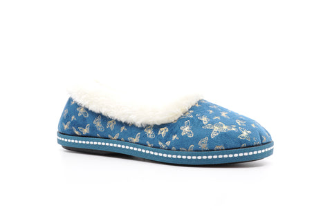 Lunar - Minerva Blue Full Slipper