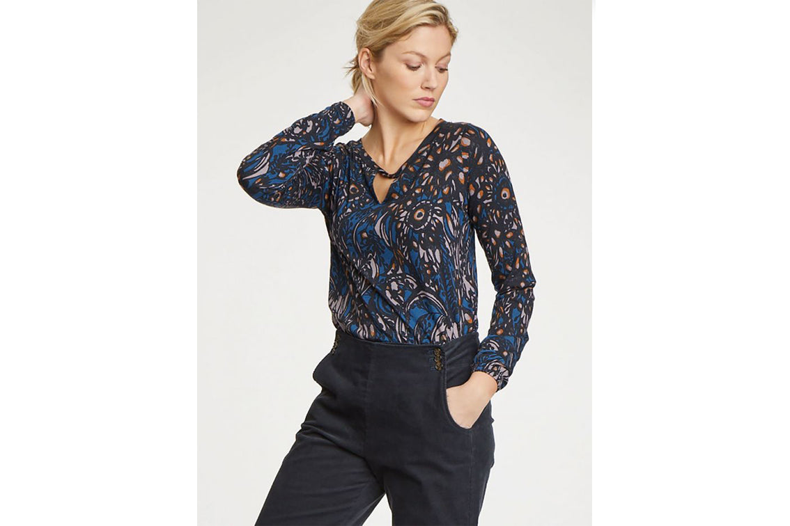 Thought - Abela Printed Bamboo Top