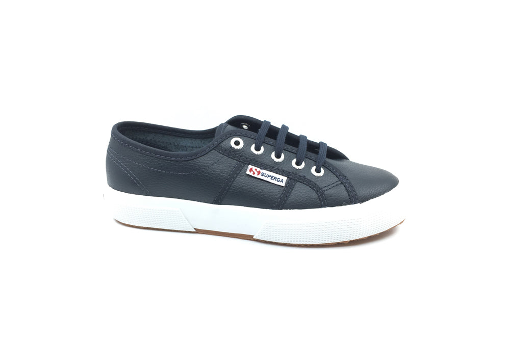 Superga - 2750 Efglu Navy Blue Leather
