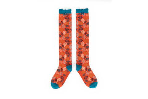 Powder - Tangerine Leaf Knee High Socks
