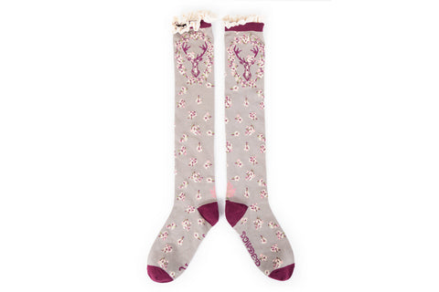 Powder - Slate Stag Knee High Socks