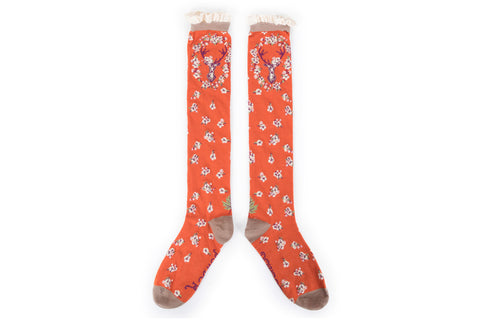 Powder - Tangerine Stag Knee High Socks