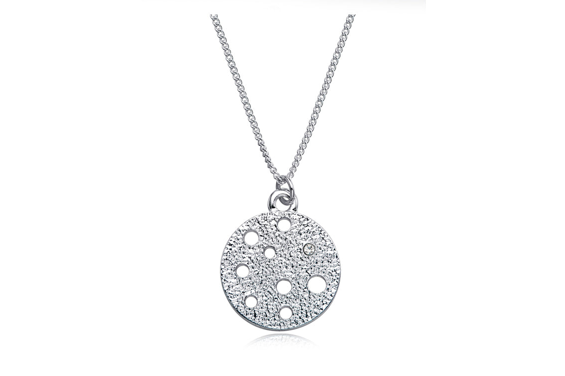 Kaytie Wu - Silver Galaxy Circle Necklace