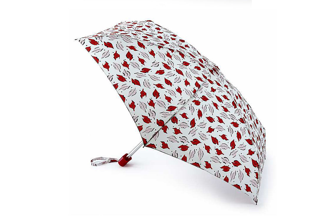 Lulu Guinness- White Beauty Spot Umbrella