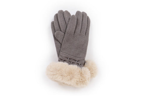 Powder - Tamara Grey Gloves