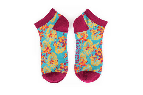 Powder - Floral Trainer Socks
