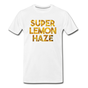 Men's Premium Organic Super Lemon Haze T-Shirt - white