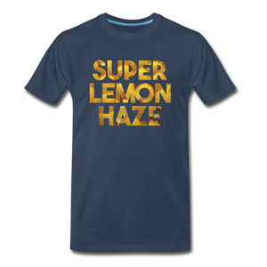 Men's Premium Organic Super Lemon Haze T-Shirt - navy
