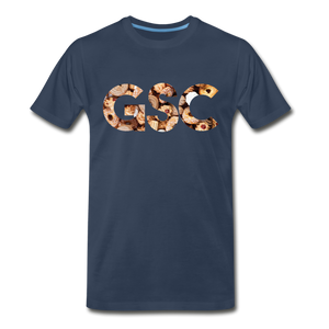 Men's Premium Organic Girl Scout Cookies T-Shirt - navy
