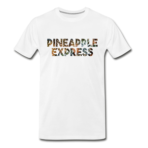 Men's Premium Organic Pineapple Express T-Shirt - white