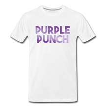 Load image into Gallery viewer, Men's Premium Organic Purple Punch T-Shirt - white