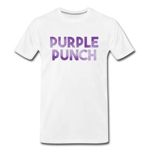 Men's Premium Organic Purple Punch T-Shirt - white