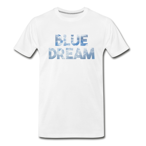 Men's Premium Organic Blue Dream T-Shirt - white