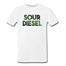 Load image into Gallery viewer, Men's Premium Organic Sour Diesel T-Shirt - white