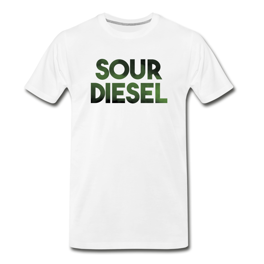 Men's Premium Organic Sour Diesel T-Shirt - white