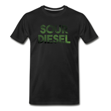 Load image into Gallery viewer, Men's Premium Organic Sour Diesel T-Shirt - black
