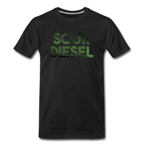 Men's Premium Organic Sour Diesel T-Shirt - black