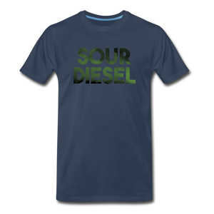 Men's Premium Organic Sour Diesel T-Shirt - navy