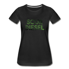 Load image into Gallery viewer, Women's Premium Organic Sour Diesel T-Shirt - black
