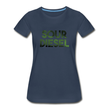 Load image into Gallery viewer, Women's Premium Organic Sour Diesel T-Shirt - navy