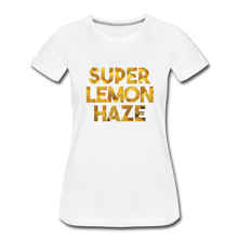 Load image into Gallery viewer, Women's Premium Organic Super Lemon Haze T-Shirt - white