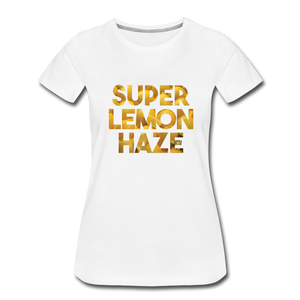 Women's Premium Organic Super Lemon Haze T-Shirt - white