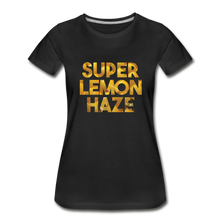 Load image into Gallery viewer, Women's Premium Organic Super Lemon Haze T-Shirt - black