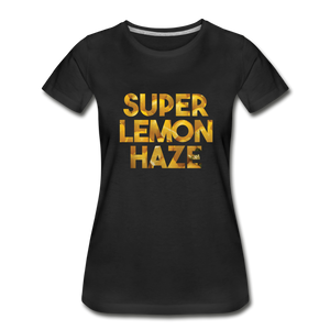 Women's Premium Organic Super Lemon Haze T-Shirt - black
