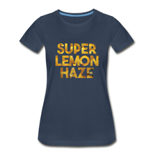Load image into Gallery viewer, Women's Premium Organic Super Lemon Haze T-Shirt - navy