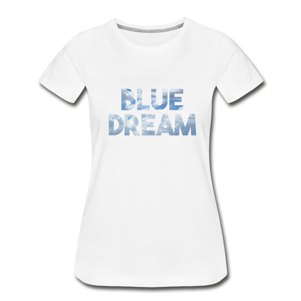 Women's Premium Organic Blue Dream T-Shirt - white