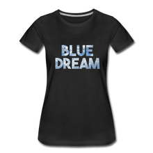 Load image into Gallery viewer, Women's Premium Organic Blue Dream T-Shirt - black