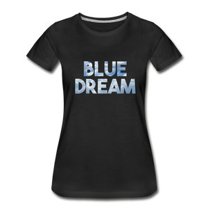 Women's Premium Organic Blue Dream T-Shirt - black