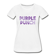 Load image into Gallery viewer, Women's Premium Organic Purple Punch T-Shirt - white
